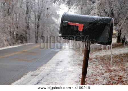 Icy Rural Mailbox