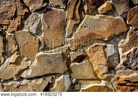 Abstract background with stonewall surface
