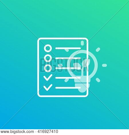 Eco Project And Environmental Planning Icon Vector