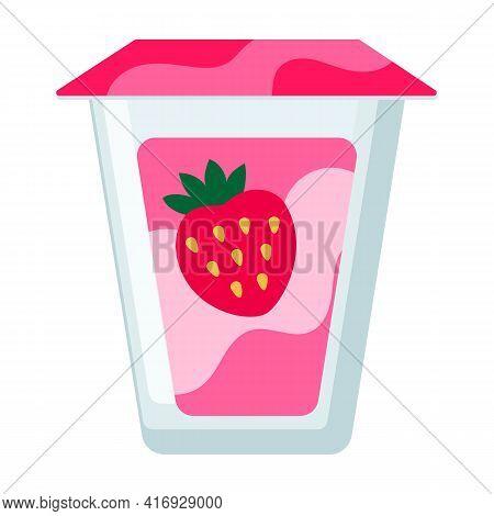 Yogurt Vector Icon.cartoon Vector Icon Isolated On White Background Yogurt.