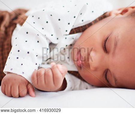 Portrait Of Little Baby Boy Sleeping Peacefully