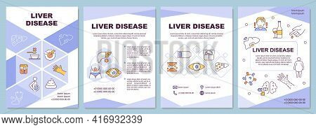 Liver Disease Brochure Template. Liver Failure. Inflammation. Flyer, Booklet, Leaflet Print, Cover D