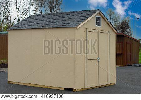 Wood Sheds Outdoor Storage Door Roof Window Style