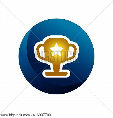 Trophy Icon Isolated On White Background From Racing Collection. Trophy Icon Trendy And Modern Troph