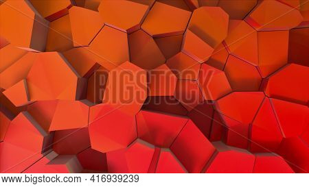 Geometrically Broken 3d Render Earth Collapse Crystals From Extreme Heat. Aftermath Powerful Earthqu