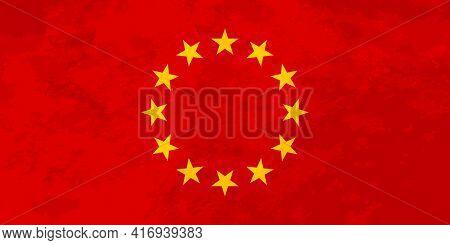 European Union Flag Looks Like Ussr Communist Red Flag With Stars
