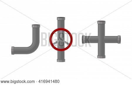 Traps As Shaped Pipe And Plumbing Fixture Vector Set