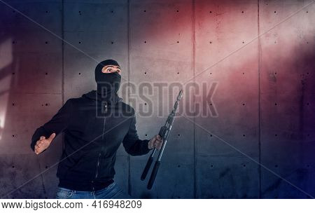 Thief With Balaclava And Wire Cutter Was Spotted Trying To Steal In A Apartment From The Security Al
