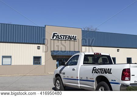 Michigan City - Circa April 2021: Fastenal Industrial Products And Services Distributor. Fastenal Re