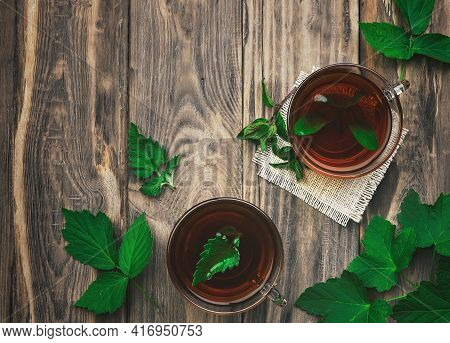 Immunity. Natural Tea. Herbal Tea For Health And Fight Against Viruses, Colds And Infections. Herbal