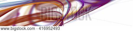 Abstract Elegant Wave Panorama Background Design Illustration