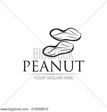 Peanut Logo Vector Illustration Design Template