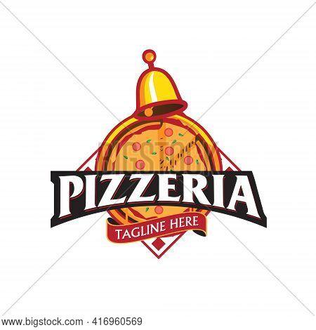 Pizzeria Emblem Vector Illustration For Food Business
