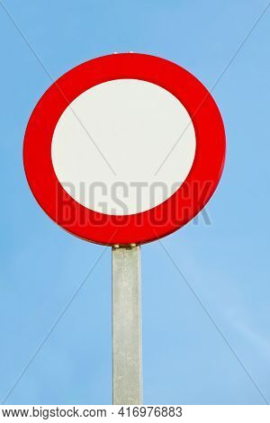 Speed limit traffic sign ledt blank, you can add any number, or use as no entry sign