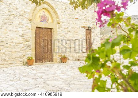 November 2020. Kato Drys In Larnaca District, Cyprus. Small Chapel In The Traditional Village Of Kat