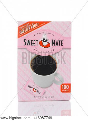IRVINE, CALIFORNIA - MAY 22, 2019:  A 100 count package of Sweet Mate Zero Calorie Sweetener.