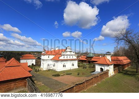 view on historical complex Bohdan Khmelnytskyi residence in Chyhyryn town in Ukraine