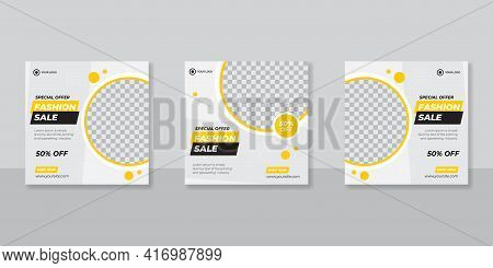 Fashion Sale Banner Or Square Flyer For Social Media Post Template