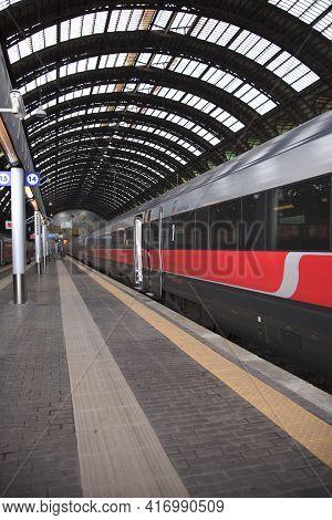 Milano (mi), Italy - October 04, 2017: Milano Centrale Railway Station, Stazione Milano Centrale, Mi