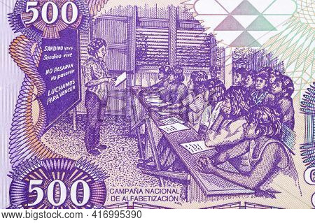 Education - Combating Illiteracy From Nicaragua Money