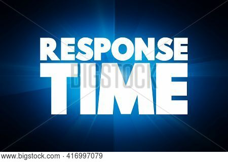 Response Time - Text Quote, Concept Background