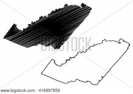 Orange County, Commonwealth Of Virginia (u.s. County, United States Of America, Usa, U.s., Us) Map V