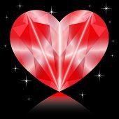 Valentines Diamond Heart happiness color jewellery luxury poster