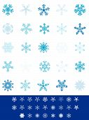 Collection of detailed snowflakes. Please check my portfolio for more christmas illustrations. poster