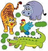 ZOO animals collection 5 on white background - vector illustration. poster