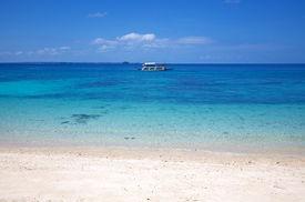 White Sand Tropical Beach On Malapascua Island, Philippines