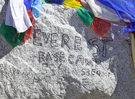 Mount Everest Base Camp Sign, Nepal