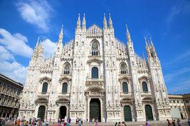 Milan - July 14: Tourists At Piazza Duomo In Milan, Italy.