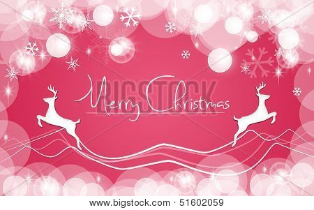 Red Christmas Card Snows background