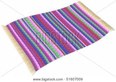 Illustration of a Magic Rag Rug (flying carpet). Isolated vector on white background. poster