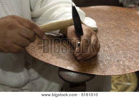 Coppersmith At Work