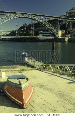 Small Boat Near Harbor