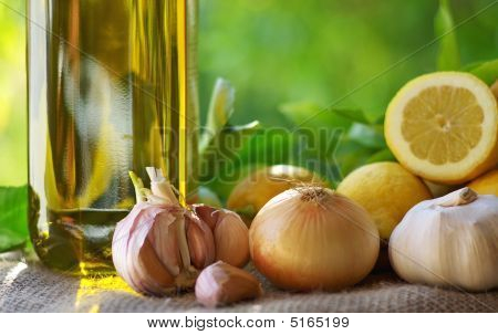 Olive Oil And Condiments.