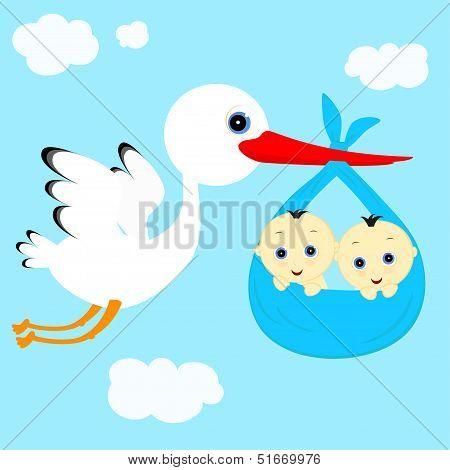 Stork And Boys