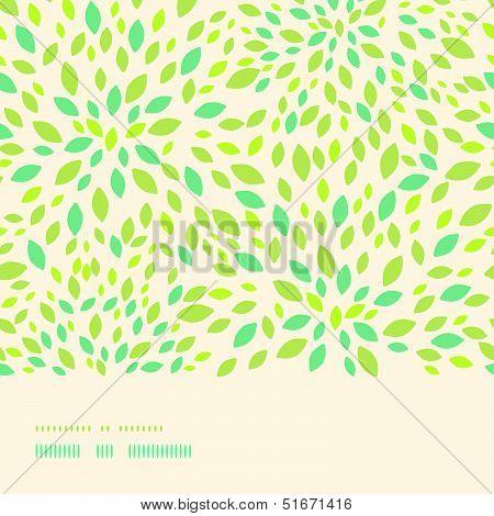 Leaf texture horizontal border seamless pattern background