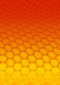 hexagon shadows pattern on an abstract background poster