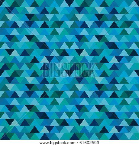 Sameless Zig Zag Triangle Pattern On Paper Texture