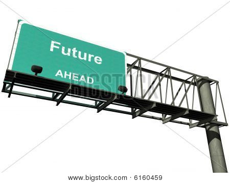 Isolated Future Highway Sign