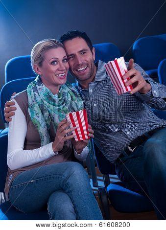 Stylish Couple Enjoying A Movie
