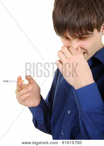 Young Man Hates Smoking
