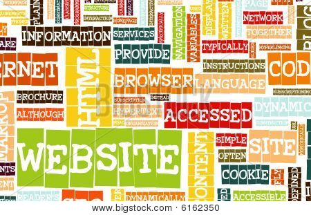Website Internet Word Cloud as a Background poster