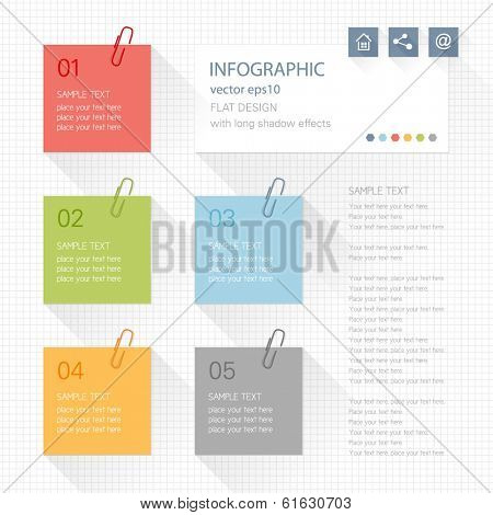 Infographic elements - post it note