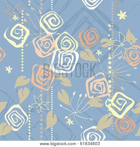 Romantic seamless pattern. Vector illustration.
