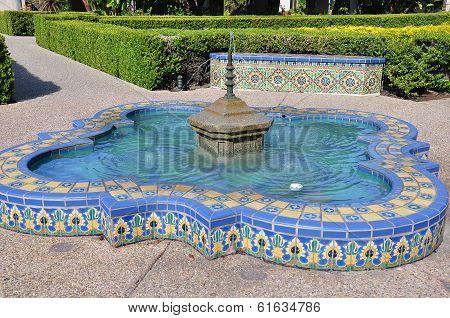 Colorful Tile Fountain