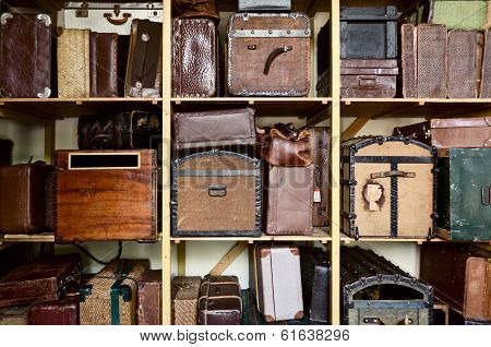 Stacked suitcases