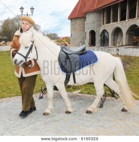 Elderly Woman With Pony